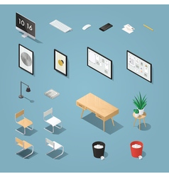 Isometric funiture set 2 vector image vector image