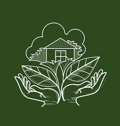 Living Green vector image