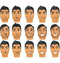 male head icons vector image vector image