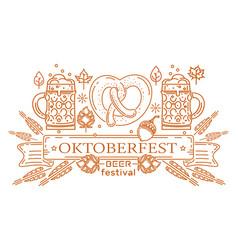 Oktoberfest logo design vector