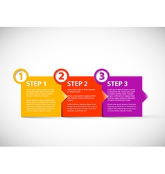 One two three - paper steps vector image