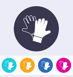 protective gloves must be worn icon vector image