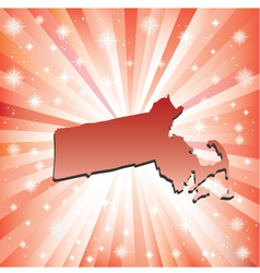Red Massachusetts vector image vector image