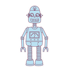 Robot kids toy isolated icon vector