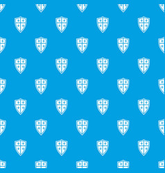 Royal shield pattern seamless blue vector