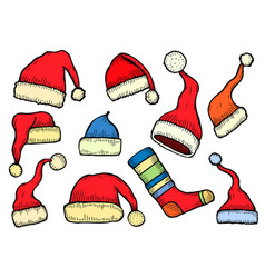 santa stocking cap vector image
