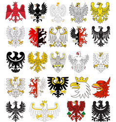 Set of heraldic eagles of poland vector