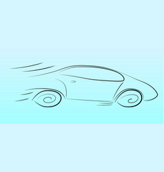 Silhouette of a speeding car vector