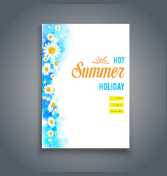 Summer blank vector