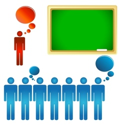 Teacher and a class vector image