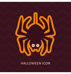 Spider halloween silhouette icon vector