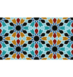 Oriental mosaic decoration vector
