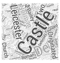 Leicester castle word cloud concept vector
