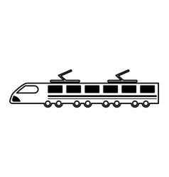 Tram silhouette isolated icon vector