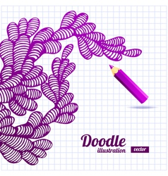 Abstract doodle design vector image