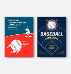 Baseball game poster vector
