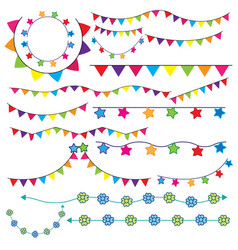 party flag vector image