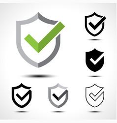 Shield check mark logo icon vector