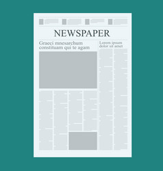 graphical design newspaper template highlighting vector image