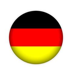 German flag button vector