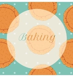 Pastry dough seamless pattern for pizza vector