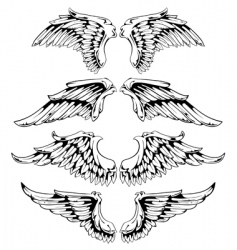 wings for your vintage design vector image