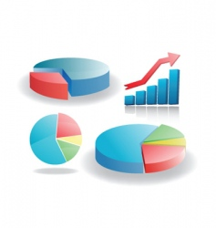 Business graphs vector