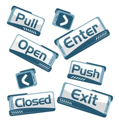Door signs technical vector