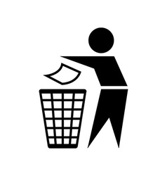 Trash bin sign vector