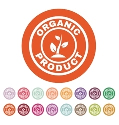 The organic product icon eco and bio ecology vector