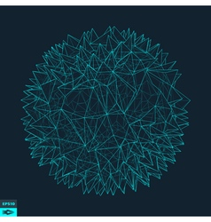 3d sphere with prickles abstract geometric object vector