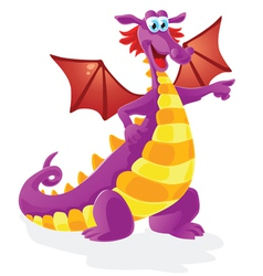 dragon cartoon character isolated vector image