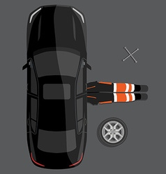 Car repair service concept vector
