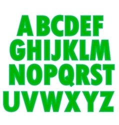 Green textile alphabet vector