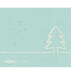 Creative christmas tree art vector