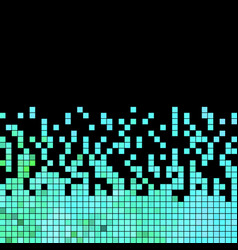 Abstract square pixel mosaic background vector