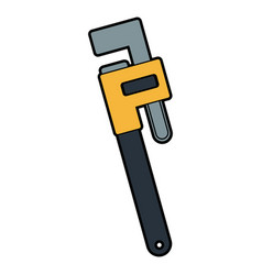 Adjustable plumbing and pipe wrenche tool repair vector