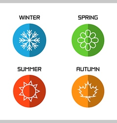 Banners with winter spring summer autumn season vector