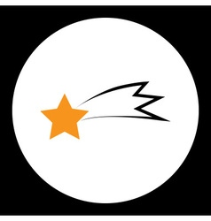 Black and yellow comet star isolated symbol simple vector