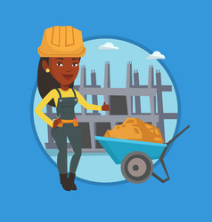 builder giving thumb up vector image