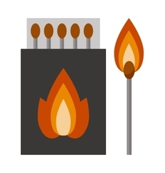 burning matches sticks vector image vector image
