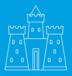 Castle tower icon outline style vector