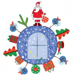 Christmas decoration with sent vector image vector image