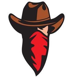 Cowboy head vector