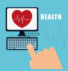 Health service online heart care vector