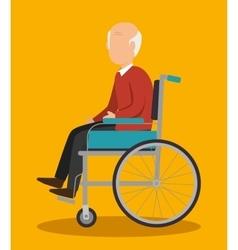 Insurance man elderly healthy design vector