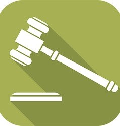 Judges Hammer Icon vector image vector image