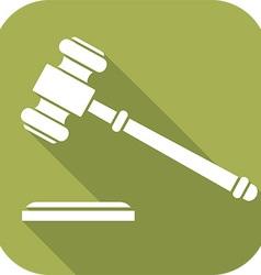 Judges hammer icon vector