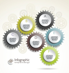 Modern gear design template vector image vector image
