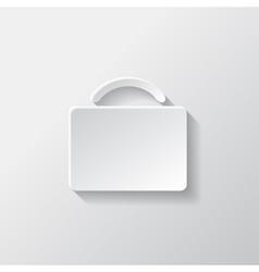 Portfolio web icon bag symbol vector